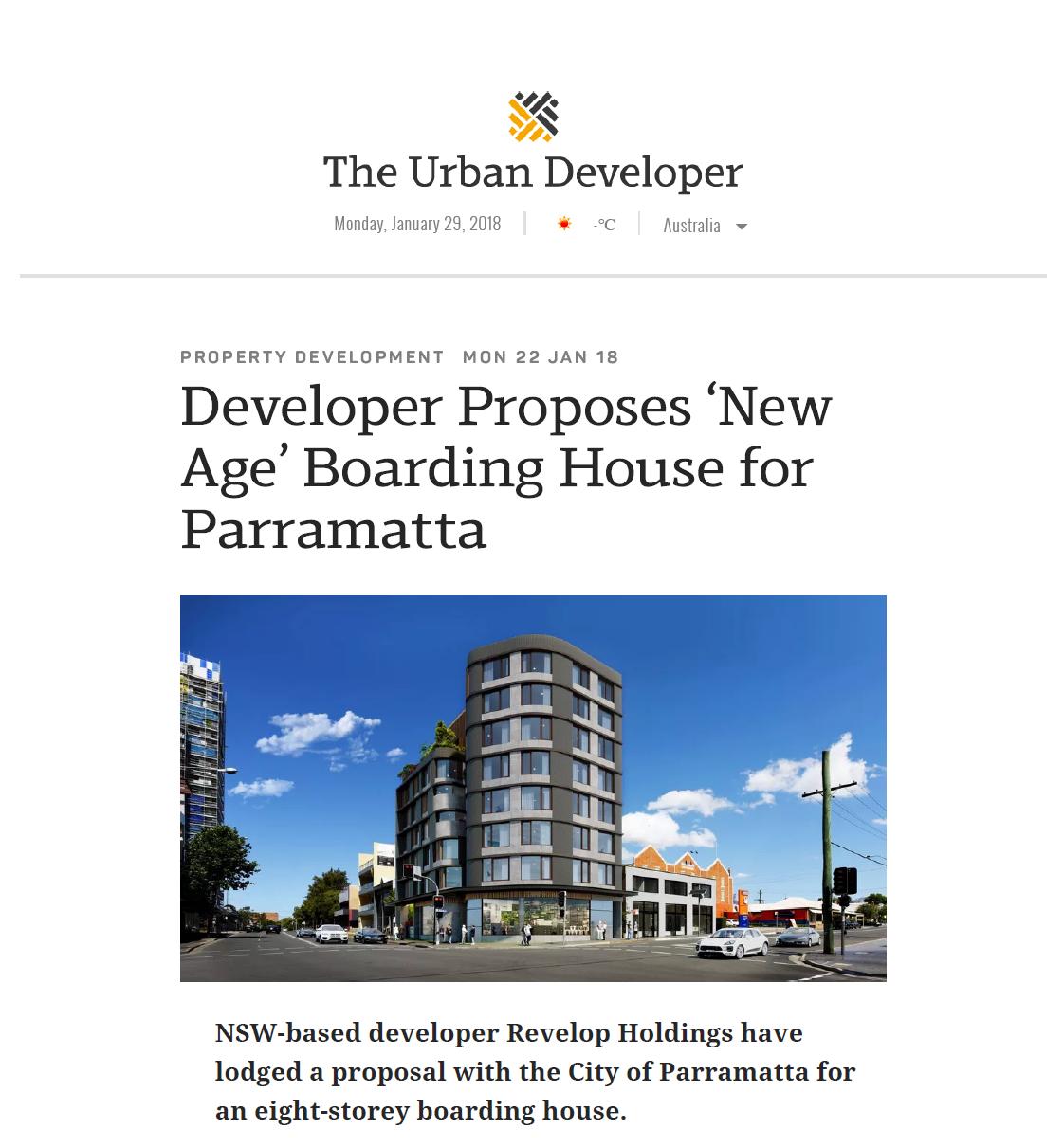 Developer Proposes 'New Age' Boarding House for Parramatta