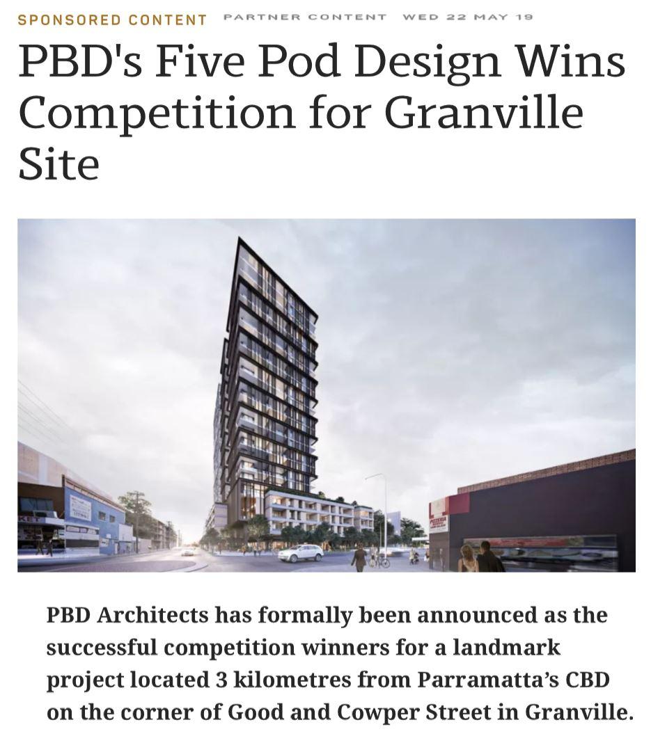 PBD's Five Pod Design wins competition for Granville site