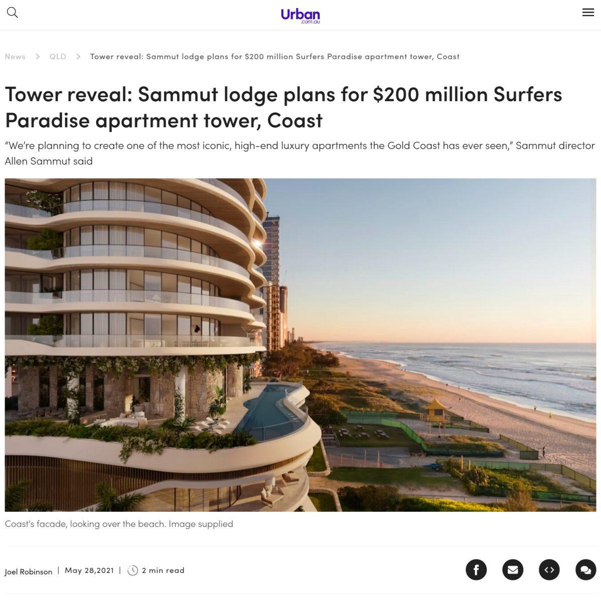 Tower reveal: Sammut lodge plans for $200 million Surfers Paradise apartment tower, Coast